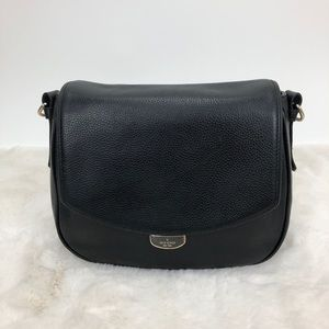 Kate Spade Black & Gold Leather Satchel Bag